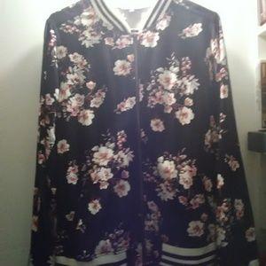 Torrid floral bomber jacket